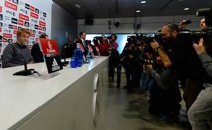 Le Norvégien Martin Odegaard (16 ans) lors de sa présentation au Real Madrid, le 22 janvier 2015.