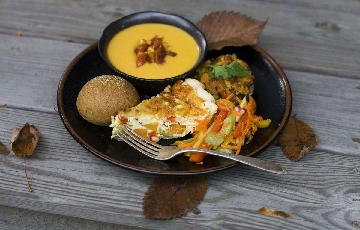 Illustration d'une assiette vegan. – M.Mead/AP/SIPA