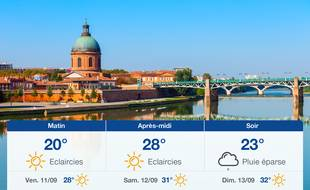 Météo Toulouse: Prévisions du jeudi 10 septembre 2020