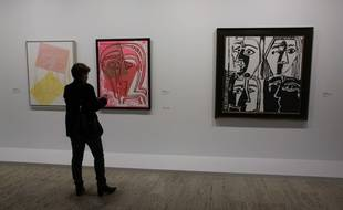 Picasso Mania opens today in Grand Palais .An original confrontation between Pablo Picasso ( who had 20 exhibits since 1973) and other major contemporary artists .Different periods of the spanish artist are reprensented like cubism and the demoiselles d'Avignon . PARIS. OCTOBER 6. 2015 Andy Warhol hommage/GINIES_130211/Credit:GINIES/SIPA/1510061315
