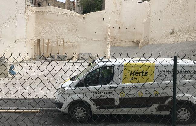 L'endroit où les deux immeubles se sont effondrés à Marseille.