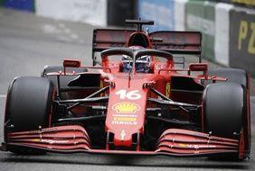 La Ferrari de Charles Leclerc lors des qualifications du Grand Prix de Monaco, le 22 mai 2021.
