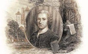 L'ermitage de Jean-Jacques Rousseau à Montmorency (à gauche) et un portrait de celui qui fut l'un des grands philosophes des Lumières (à droite).