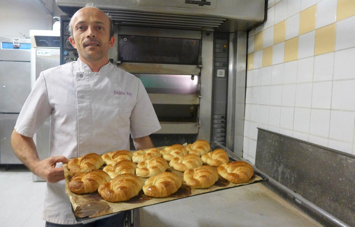 Le boulanger niçois Frédéric Roy a reçu des équipes de campagne dans son arrière-boutique.  – M. Frénois / ANP / 20 Minutes