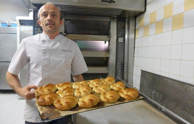 Le boulanger niçois Frédéric Roy a reçu des équipes de campagne dans son arrière-boutique.