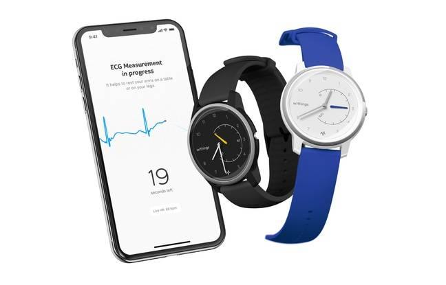 La montre Move ECG peut réaliser un électrocardiogramme.