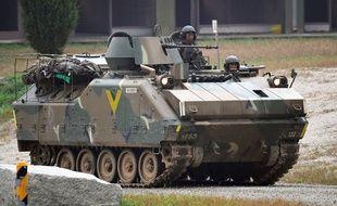 Des soldats sud-coréens lors d'un exercice conjoint avec l'armée américaine à Pocheon, le 19 septembre 2017.