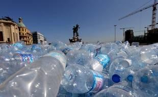 Une pile de bouteilles plastiques au Liban (image d'illustration).
