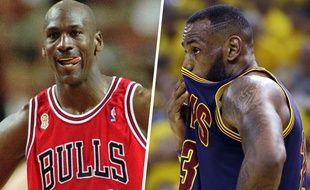 Michael Jordan et LeBron James, deux des plus grandes stars de l'histoire de la NBA.