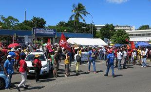 Mobilisation générale pour le CHU de Guadeloupe à Pointe-à-Pitre, le 13 août 2019.