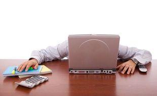 Coup de fatigue au travail.