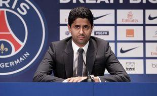 Le président du PSG Nasser al-Khelaïfi en juillet 2013.