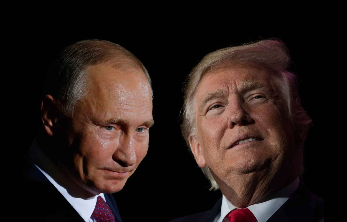 Photomontage de Donald Trump et Vladimir Poutine. – PHOTOS AFP