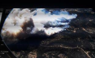 Une image aérienne de l'incendie dans le sud-Luberon.