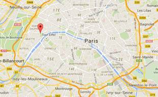 Google Maps Tour Eiffel