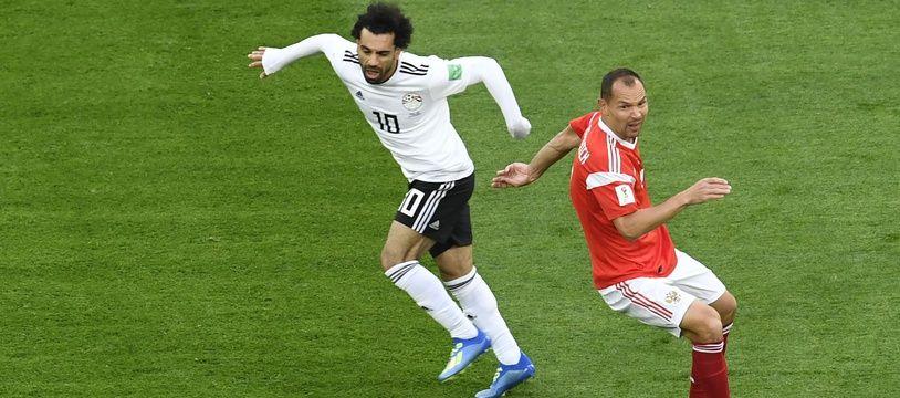 reputable site 2d5f6 4736c Mohamed Salah face à la Russie, en Coupe du monde, le 19 juin.