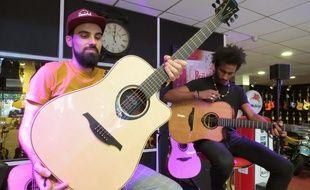 La guitare Lâg Hyvibe est la première guitare acoustique dite intelligente.