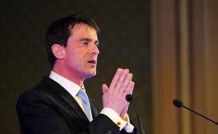 Le Premier ministre, Manuel Valls, à Tours, le 26 mars 2015