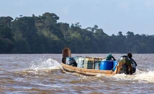 La rivière Maroni en Guyane (illustration).
