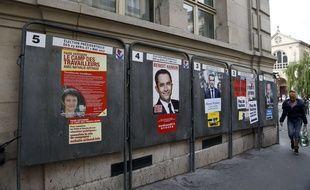 Affiches de la campagne électorale de 2017 à Paris