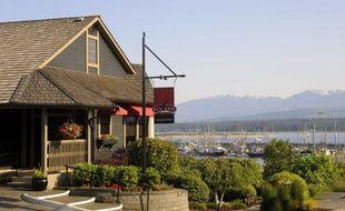 Un restaurant à Vancouver - Illustration