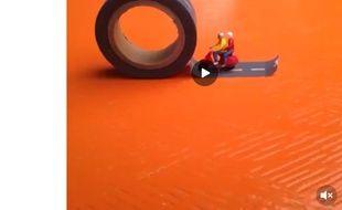 Un clip d'animation «stop motion» de Yves Das, sur Vine.