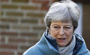 Theresa May, Première ministre britannique, le 24 mars 2019.