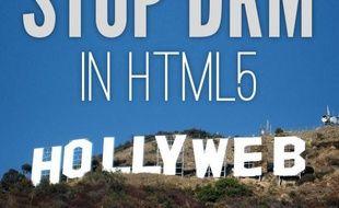 Un tract de la Fondation pour le Logiciel Libre appelant à s'opposer à l'arrivée des DRM dans le HTML5.