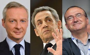 Les candidats à la présidence de l'UMP: Bruno Le Maire, Nicolas Sarkozy et Hervé Mariton.