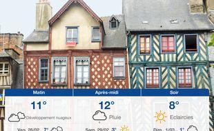 Météo Rennes: Prévisions du jeudi 27 février 2020