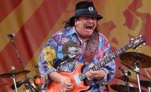 Carlos Santana en concert à La Nouvelle-Orléans, en 2014.