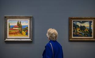 A droite, le tableau Paysage à Cassis, qui doit être rendu à la famille Gimpel.