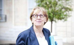 Marylise Lebranchu à la sortie du conseil des ministres, le 23 mai 2012.