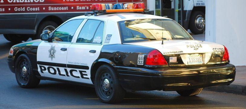 Une voiture de police américaine (Illustration)