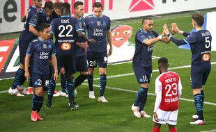 Dimitri Payet a inscrit un doublé lors de la victoire de Marseille à Reims (1-3) le 23 avril 2021.