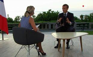 Emmanuel Macron sur France 2 le 26 août 2019.