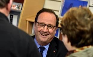 François Hollande à Tulle en Corrèze, le 14 avril 2018.