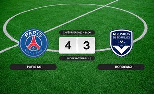 PSG - Bordeaux: Le PSG vainqueur de Bordeaux 4 à 3 au Parc des Princes