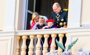 Le prince et la princesse de Monaco et leurs jumeaux