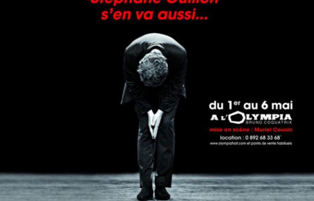 L'affiche du spectacle de Stéphane Guillon qui a été retirée du métro parisien le 26 janvier en raison de son accroche à caractère politique. – StephaneGuillon.fr