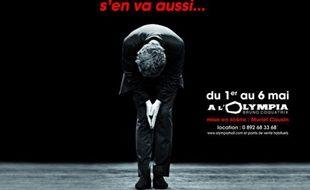 L'affiche du spectacle de Stéphane Guillon qui a été retirée du métro parisien le 26 janvier en raison de son accroche à caractère politique.
