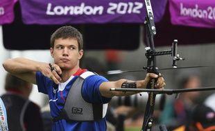 L'archer français Gael Prevost a terminé 6e de l'épreuve de classement des JO, le 27 juillet 2012 à Londres.