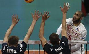 N'Gapeth lors de France-Pologne, le 18 juillet 2015 en Ligue mondiale.
