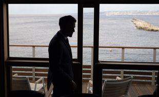 Emmanuel Macron lors d'une visite à Marseille