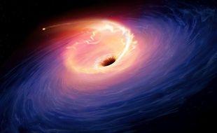 Vision artistique d'un trou noir.