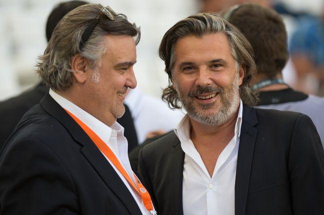 Laurent Nicollin et Vincent Labrune, en août 2014.