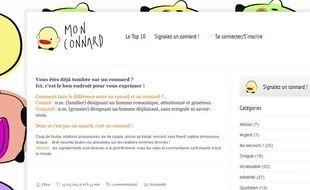 Capture d'écran du site monconnard.com.