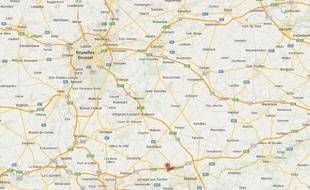 Google Map de Temploux, en Belgique.