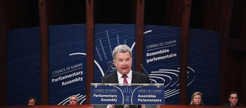 Le président finlandais s'exprime devant l'Assemblée parlementaire du Conseil de l'Europe, à Strasbourg, en janvier 2019 (illustration).