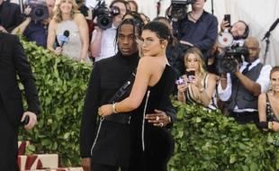 Le rappeur Travis Scott et Kylie Jenner à New York.